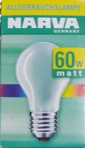 NARVA Germany Agl Matte E27 60W 230V Light Bulb