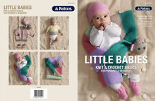 Patons Pattern Book 8017 Little Babies - Knit & Crochet Basics Premmie Newborn
