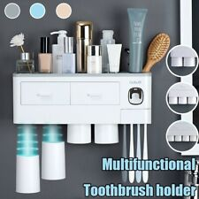 Wall-mounted Magnetic Toothbrush Holder Waterproof Toothpaste Squeezer