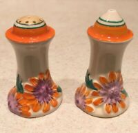 Clarice Cliff Marguerite Muffineer Salt And Pepper Shakers