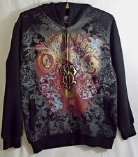 Preowned SouthPole Authentic Collection Hoodie Jacket Size L 16-18 Skulls