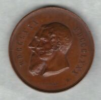 1880 BELGIUM LEOPOLD BRONZE MEDAL IN EXTREMELY FINE CONDITION.
