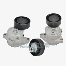 BMW Belt Tensioner Alternator + AC + Idler Pulley Kit INA OEM 252/571/130 (3pcs)