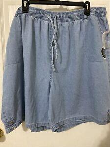 Karen Scott Comfort Waist Hits Above Knee Denim Shorts Size 3X-NWT
