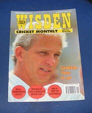 WISDEN CRICKET MONTHLY JANUARY 1994 - GOWER: TIME TO GO/BALL-TAMPERING LATEST