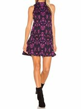 Free People Women's AMELIA PURPLE COMB SLEEVELESS KNIT DRESS M NEW WITH TAG