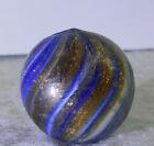 #11357m Bigger .75 Inches German Handmade Onionskin Lutz Marble *Near Mint*