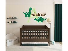 "Dinosaur Name Monogram Wall Decal #4 Nursery Wall Graphics Bedroom 18"" Tall"