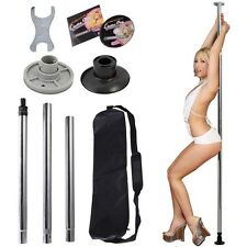 Dance Pole Full Kit Portable Stripper Exercise Fitness Club Party Dancing Home