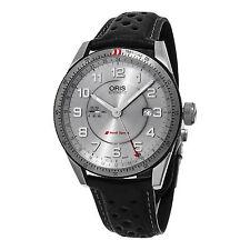Oris Artix Audi Sport GMT Automatic Silver Dial Leather Mens Watch 74777014461LS