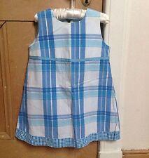 Boden Dress, 3-4y, Summer Sun Dress, Blue White Check