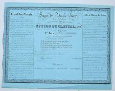 Dépt 44 - Forges de Basse-Indre - Rarissime Action de 5 000 F (182 ex) de 1843
