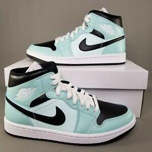 Nike Air Jordan 1 Mid Light Dew Shoes Womens Size 8.5 Sneakers Teal BQ6472-300
