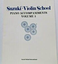 Suzuki Violin School Piano Accompaniments Volume 3 Summy-Birchard 1970 Dr.Suzuki