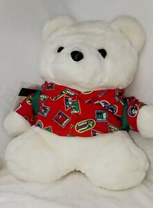 Vintage Dayton Hudson Marshall Fields Santa Bear '93 Traveler Passport&Backpack