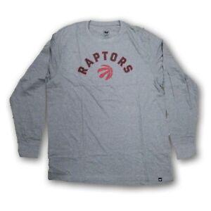 Toronto Raptors NBA '47 Men's Long Sleeve Gray T-shirt New