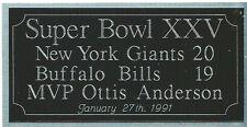 Super Bowl 25 engraving, New York Giants