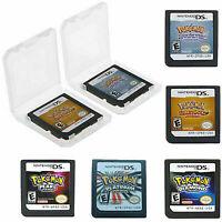 For Nintendo 3DS NDSI NDS Lite Pokemon Platinum Game Card HeartGold SoulSilver