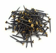 100 Bildernägel 2,0 x 25mm Stahl Nagel gehärtet mit Messingkopf Bilderhaken