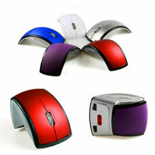 2.4Ghz Wireless Mouse Foldable Folding Optical Mice Receiver USB For Laptop U3Y4