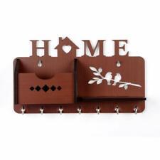 Beautiful Wooden Key Holder Handmade Home Side Shelf Brown Key Holder Key Rack