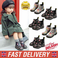 Kid Ankle Boots Girls Boys Floral Print Chelsea Martin Boots Toddler Shoes Size
