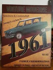 Plaque «la voiture moderne» 28*22 cm