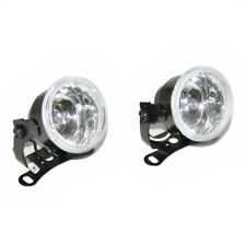 2 Pcs 12V Universal 60mm Non Corrosive Metal Fog Spot White Lights Lamps Car Van