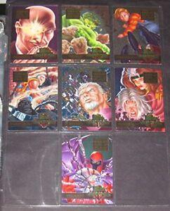 1996 Marvel Ultra Onslaught Overpower Mission Powerblast 1-7 FULL SET