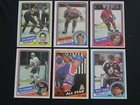 1984-85 Topps Hockey Base Cards #1 - 165 Rookies, Stars, Goalies U Pick! MINT