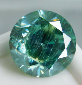 Loose Gemstone Round Moissanite Color VVS 3.5 Ct Synthetic Diamond Certified !