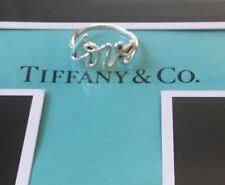 Tiffany & Co Silver Love Script Paloma Picasso Ring Sz 6