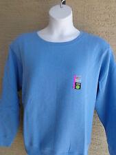 NWT Womens Hanes Premium Eco-Smart Crew Neck Sweat Shirt Heth Blue 2X
