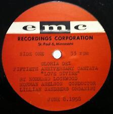 Normand Lockwood - Love Divine - Gloria Dei LP VG+ EMC Acetate June 8 1958 Vinyl