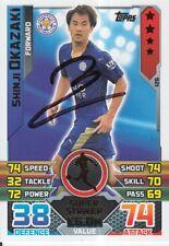 Shinji di Okazaki Firmato a Mano Leicester City Match Attax Scheda 15/16 1.