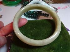 Qualité Vintage chinois naturel céladon Jade sculpté à la main Bracelet II
