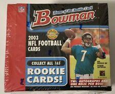 2003 Bowman HTA Jumbo Football Box Factory Sealed Hobby HTF
