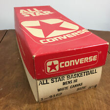 Vintage Converse 8.5 Shoe Box Only White Canvas Hi Shoes All Star Basketball Usa