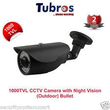 Tubros 1000TVL CCTV Camera with 30Mtr. Night Vision Bullet (Outdoor)