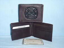 FIRE FIGHTER /  Fireman    Leather BiFold Wallet   NEW   dkbr 3s z  --z