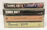 Lot of 4 BONNIE RAITT Cassette Tapes ~ Fundamental, Collection, Sweet Forgivenes
