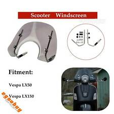 4mm Thick Smoky Windshield Flyscreen Wind Deflector For Vespa LX150 LX50 Scooter