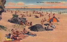Postcard Surf Bathing a Coral Beach Bermuda