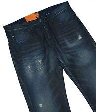 Hugo Boss 50260800 azul oscuro Denim naranja 24 Milano radio vaqueros W32 L34