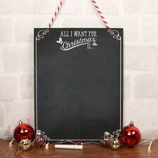 All I Want Christmas List Xmas Santa Hanging Chalkboard Sign Plaque Kids Gifts