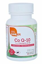 CoQ10 100mg Coenzyme Q10 Ubiquinol Heart Health Supplement ~ Zahler 60 Softgels