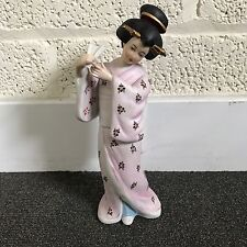 "Vintage Ceramic Figurine Geisha Girl 11"" Tall Stamped with Blue ""N"""