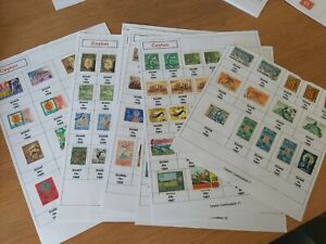 8 PAGES OF CEYLON STAMPS