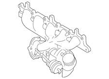 Genuine Volvo Exhaust Manifold 36050575