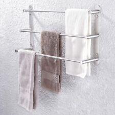 3-Tiers Bath Towel Bar Sus304 Stainless Steel Bathroom Towel Rack Wall Mounted